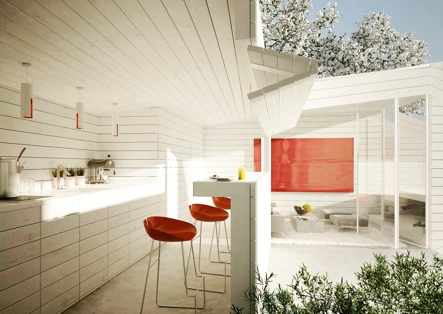 Sommerhaus W-kitchen
