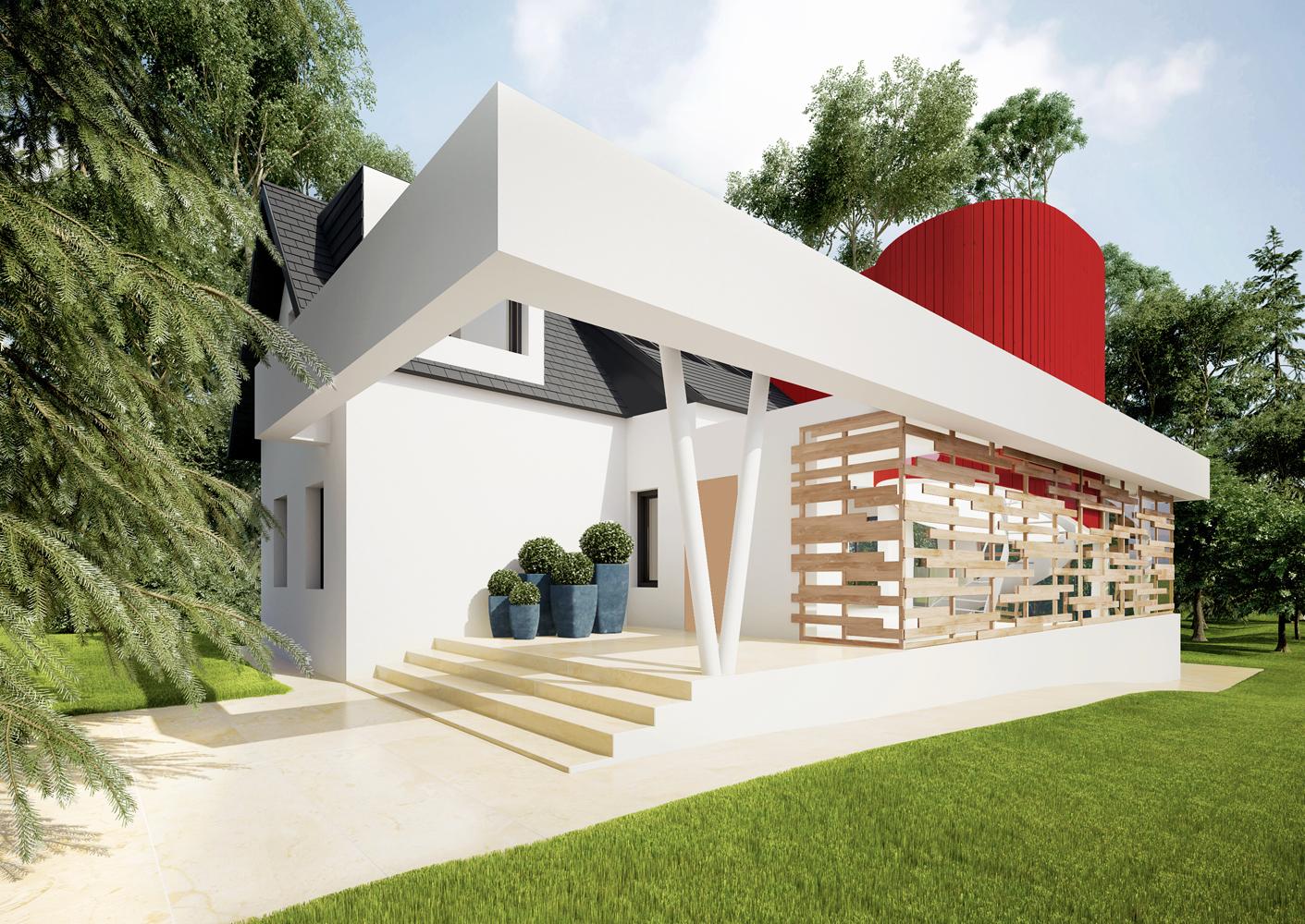 Einfamilienhaus A-Render